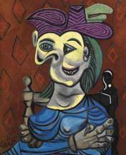 Пабло Пикассо Женщина в голубом