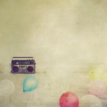 red balls and an old radio 3 by ~cecilia-ivy